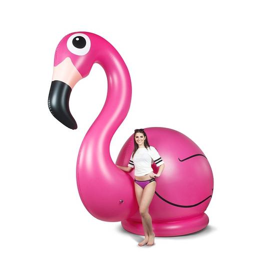 Enorme opblaas flamingo 305 cm