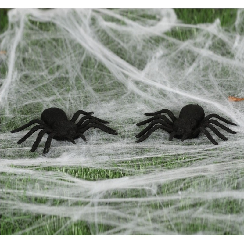 10x Horror spinnen 10 cm Halloween decoratie
