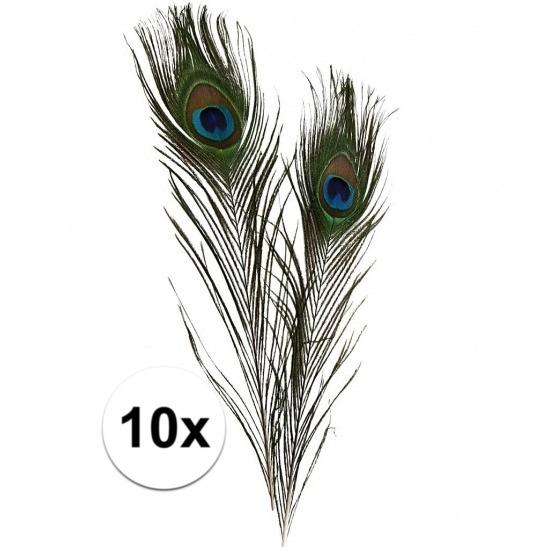 10x Pauwen veertjes