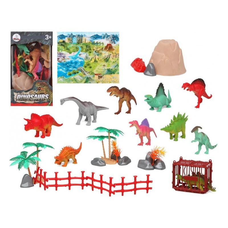 10x Plastic dinosaurussen speelgoed figuren voor kinderen