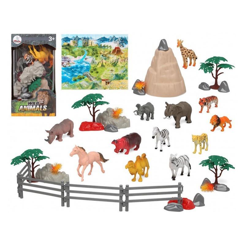 12x Plastic safaridieren speelgoed figuren voor kinderen