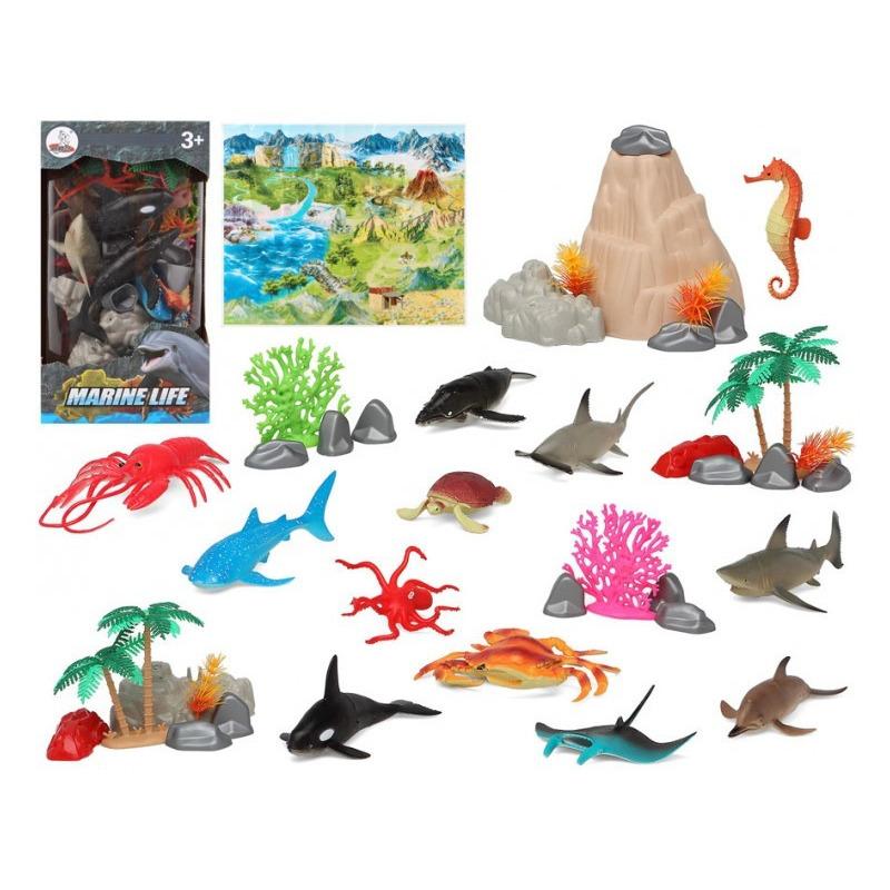 12x Plastic zeedieren speelgoed figuren voor kinderen