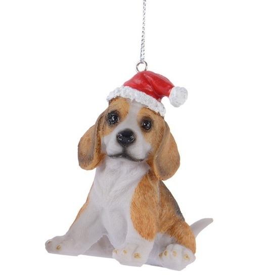1x Beagle honden kerstornamenten kersthangers 7 cm
