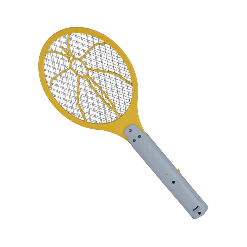 1x Elektrische vliegenmeppers geel/grijs 46 x 17 cm