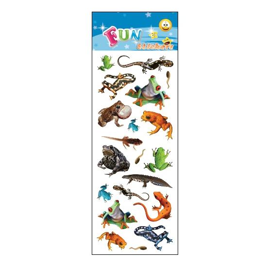 1x Reptielen stickervel met 20 stickers