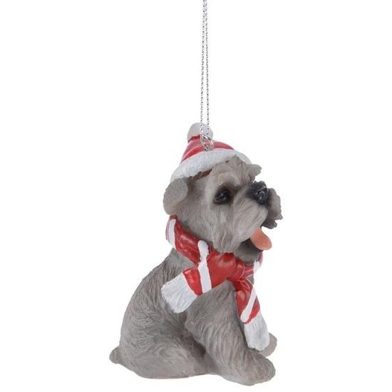 1x Schnauzer honden kerstornamenten kersthangers 7 cm