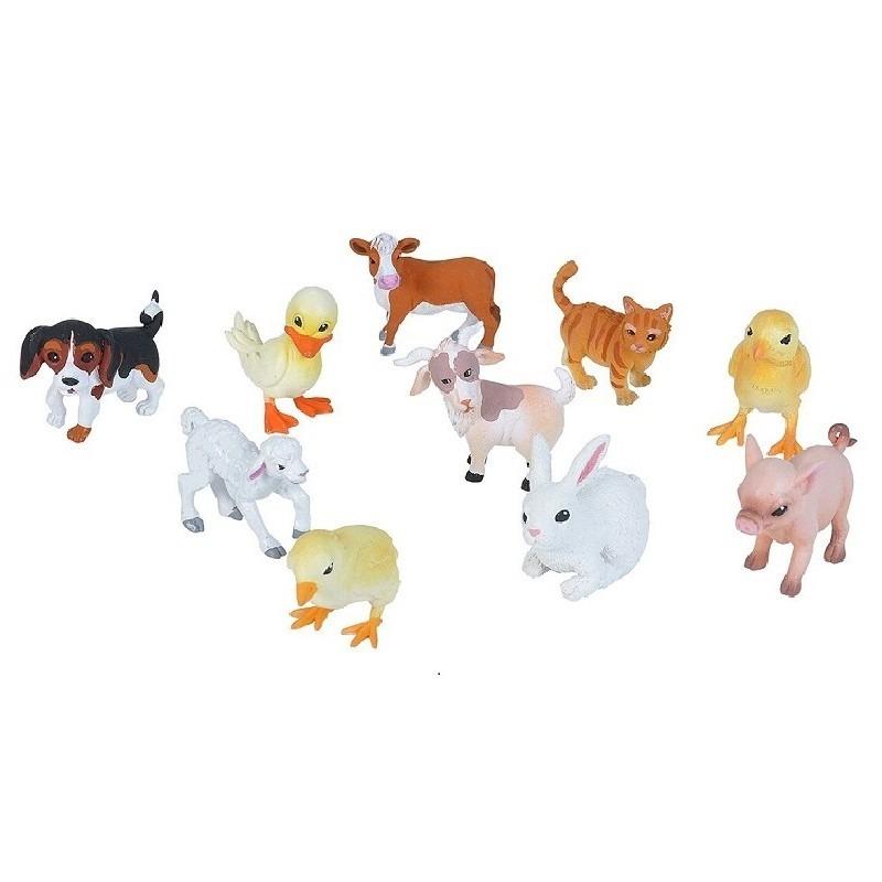20x Plastic baby boerderijdieren speelfiguren