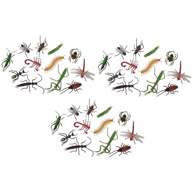 36x Horror insecten van plastic