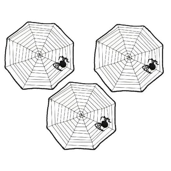 3x Horror spinnenwebben met spin 40 cm