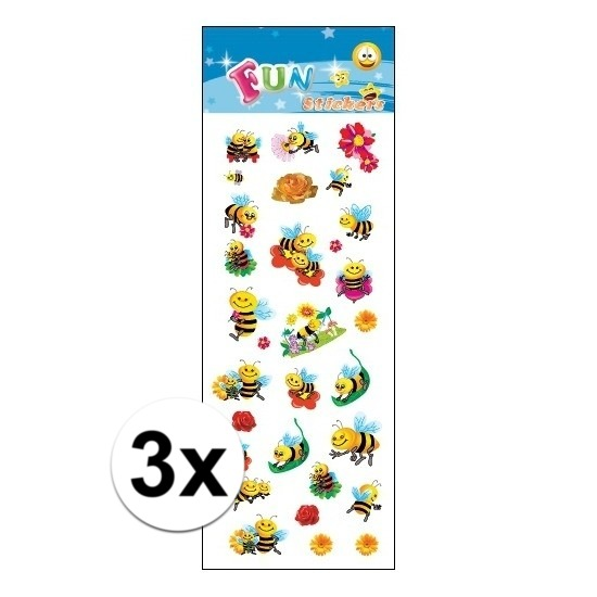 3x Kinder bijen stickers