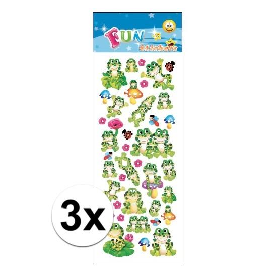 3x Kinder kikkers stickers