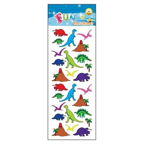 3x stuks kinder stickers dinosaurus thema