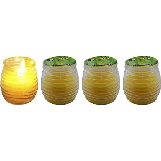 Afbeelding 4x Citronella kaarsen in glas door Animals Giftshop