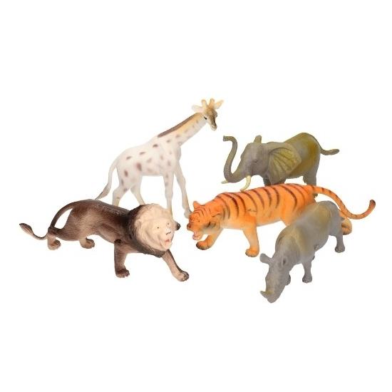 5 delige speelset groteplastic savannah dieren