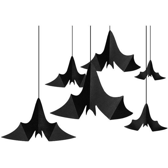 6x Halloween feest/party vleermuis versiering