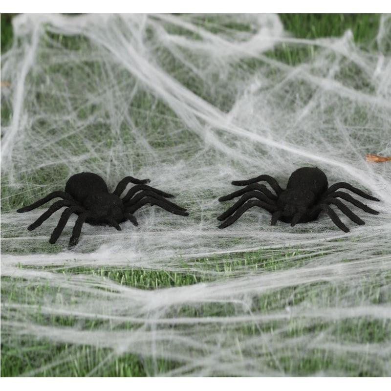 8x Horror spinnen 10 cm Halloween decoratie