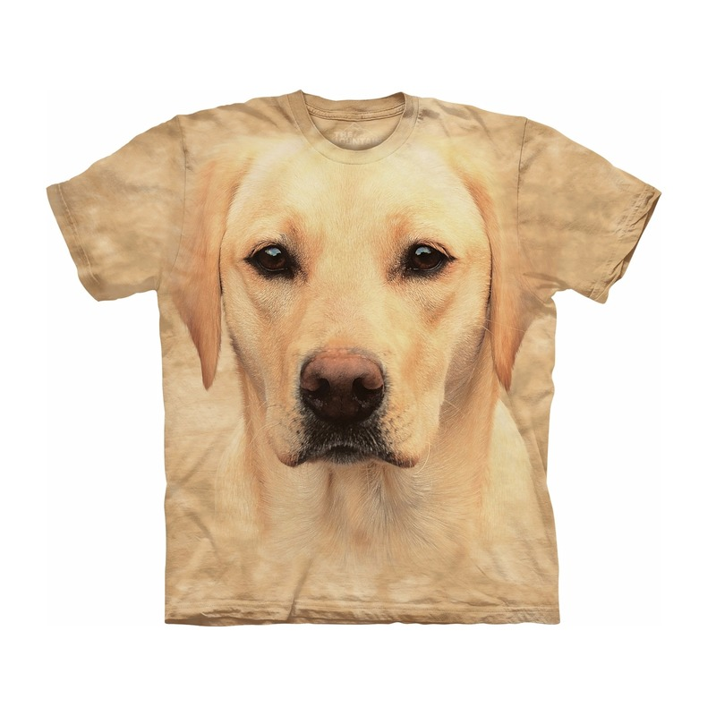 All-over print kids t-shirt met blonde Labrador