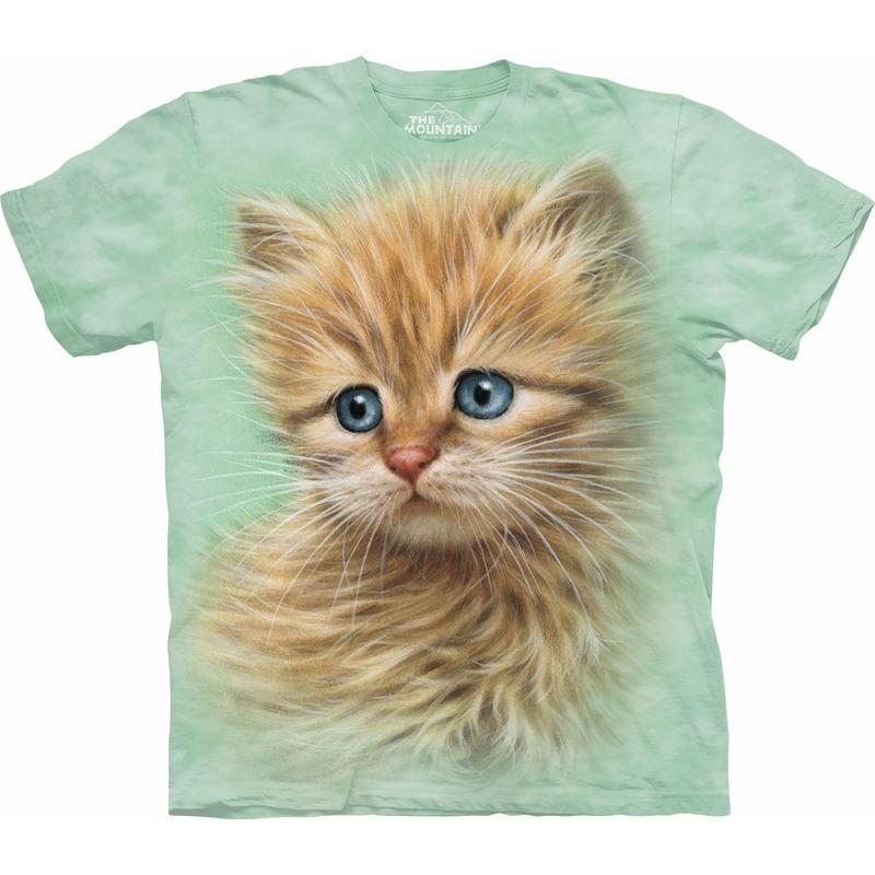 All-over print kids t-shirt rood katje