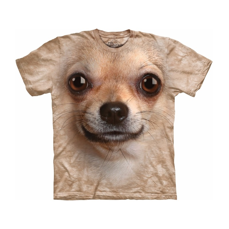 All-over print t-shirt met Chihuahua