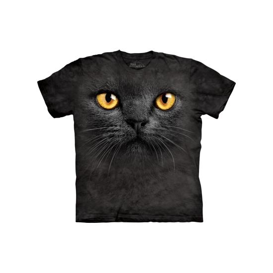 All-over print t-shirt zwarte kat