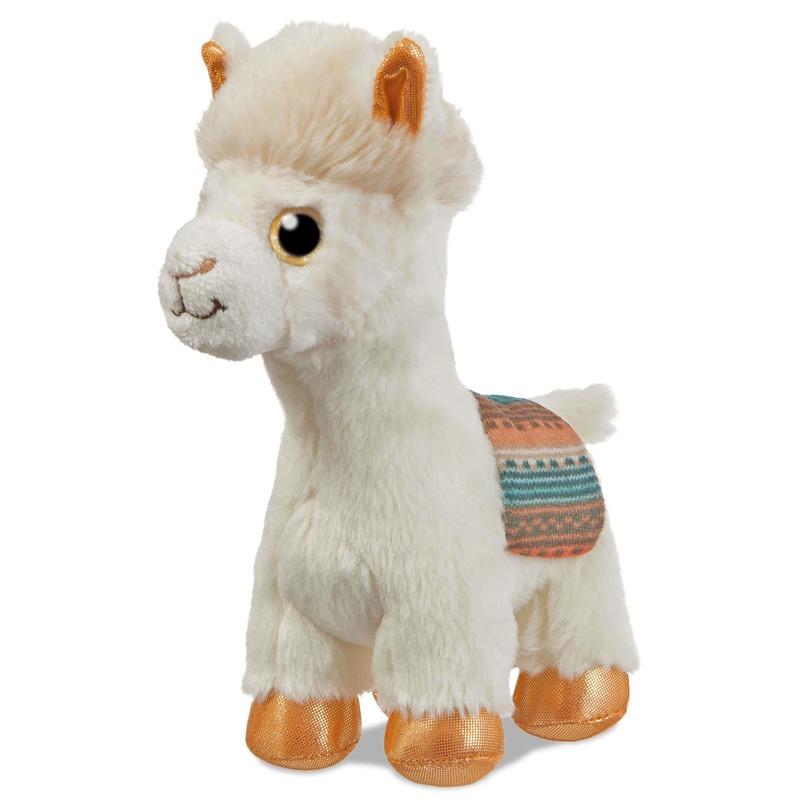 Afbeelding Alpacas knuffels wit 18 cm knuffeldieren door Animals Giftshop