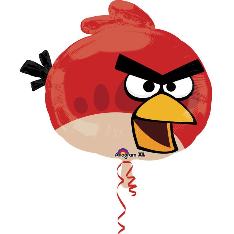Angry Birds folie helium ballon rood