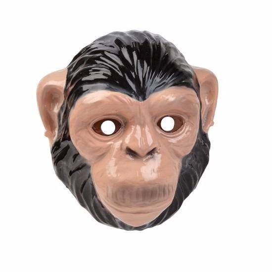 Apen/chimpansee masker gemaakt van plastic 3D 22cm