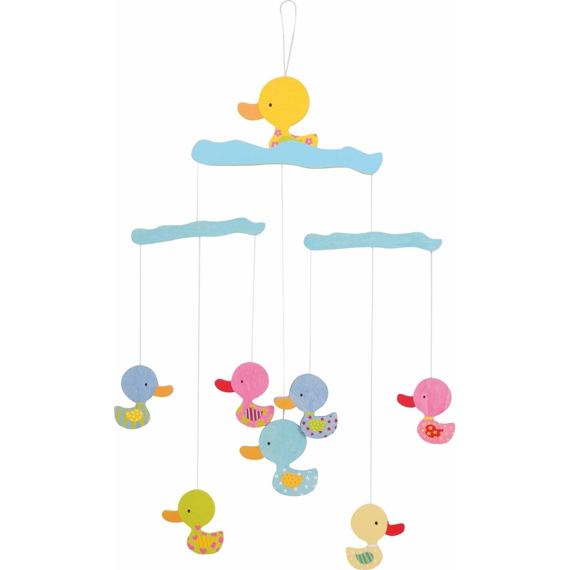 Baby decoratie mobiel met eenden 40 cm