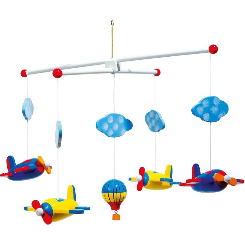 Baby decoratie mobiel met vliegtuigen 44 cm