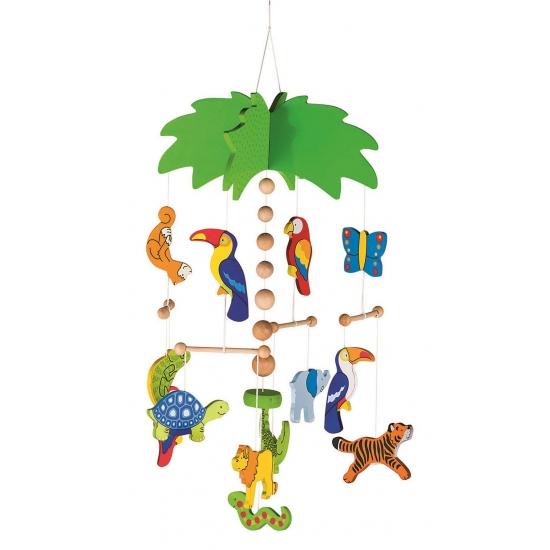 Baby hangdecoratie mobiel jungle dieren