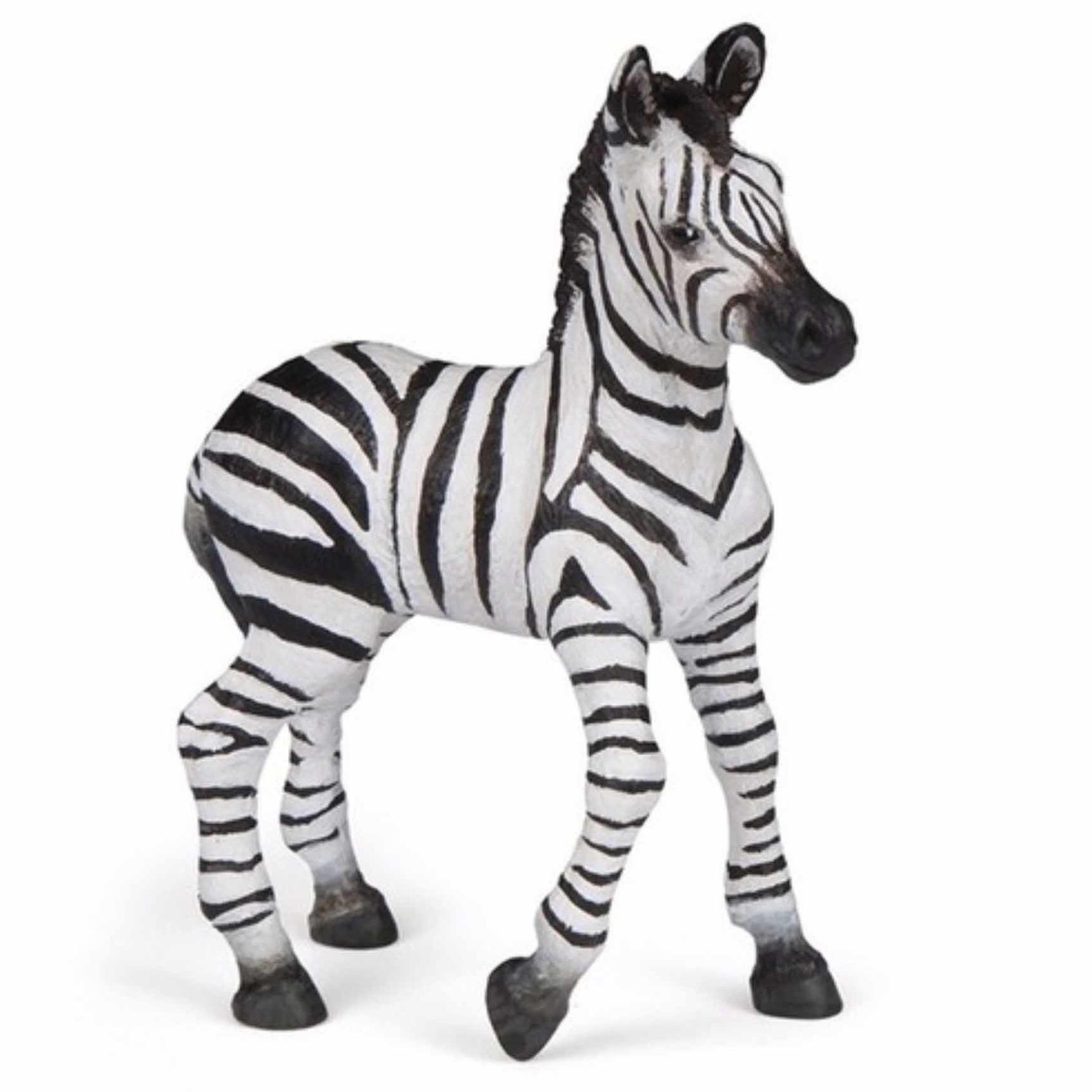 Baby zebra speeldiertje 9 cm