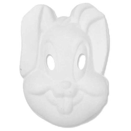 Basic wit konijnen/hazen masker