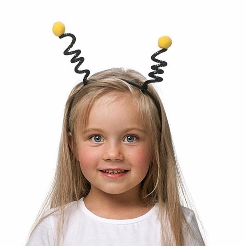 Bijen haarband geel met zwart