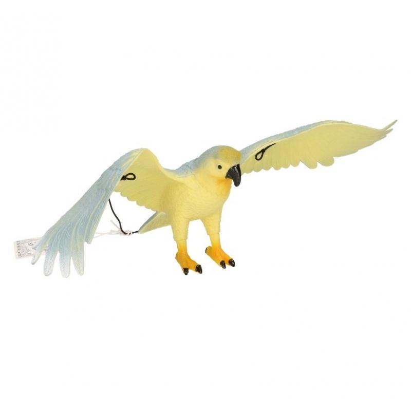 Blauw witte papegaai van plastic 33 cm