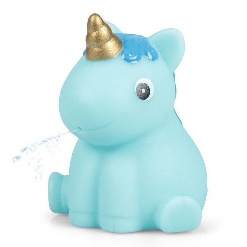 Blauwe eenhoorn voor in bad 6,5 cm