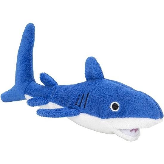 Blauwe haaien knuffels 13 cm knuffeldieren