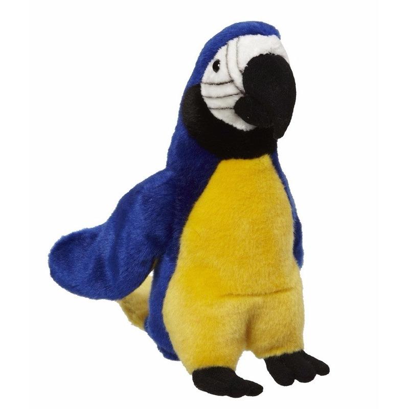 Blauwe papegaaien knuffels