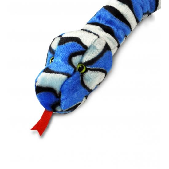 Blauwe pluche slang 200 cm