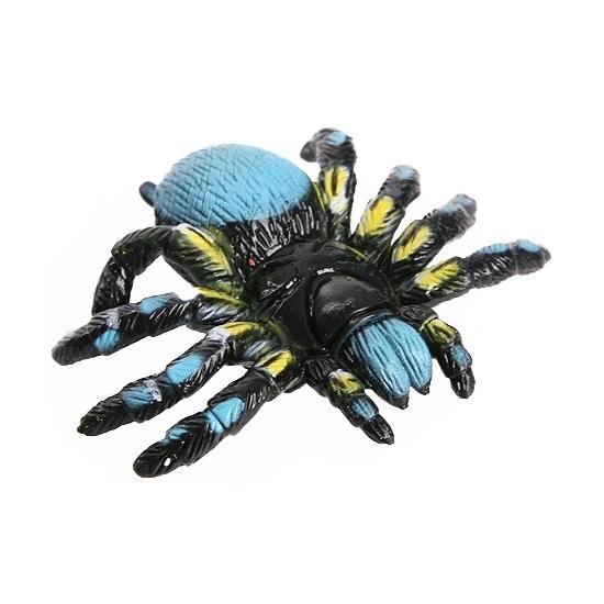 Blauwe speelgoed spin 10 cm