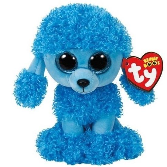 Blauwe Ty Beanie poedel hond knuffels Mandy 15 cm knuffeldieren