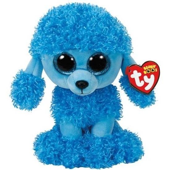 Blauwe Ty Beanie poedel honden knuffels Mandy 24 cm knuffeldieren