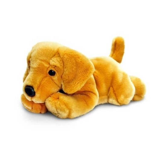 Blonde labrador knuffel 35 cm