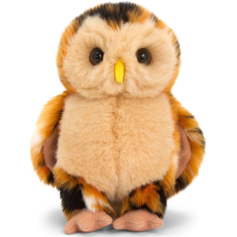 Bosuil bruin knuffelvogel 18 cm