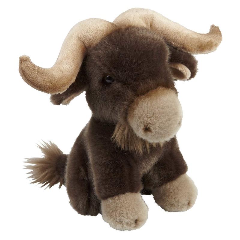 Bruine bizons knuffels 18 cm knuffeldieren