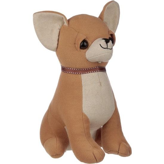Bruine chihuahua hond deurstopper/deurwig 25 cm