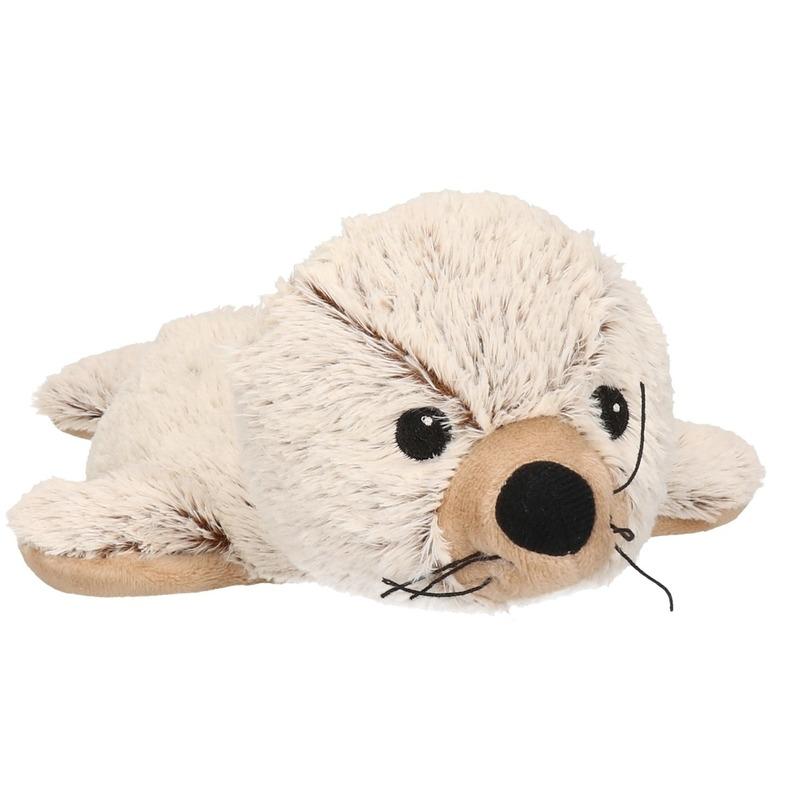 Bruine / creme zeehonden heatpack/coldpack knuffels 31 cm knuffeldieren