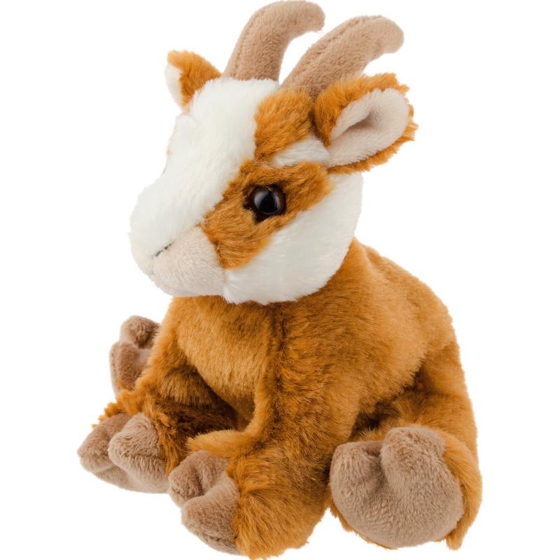 Bruine geiten knuffels 13 cm knuffeldieren