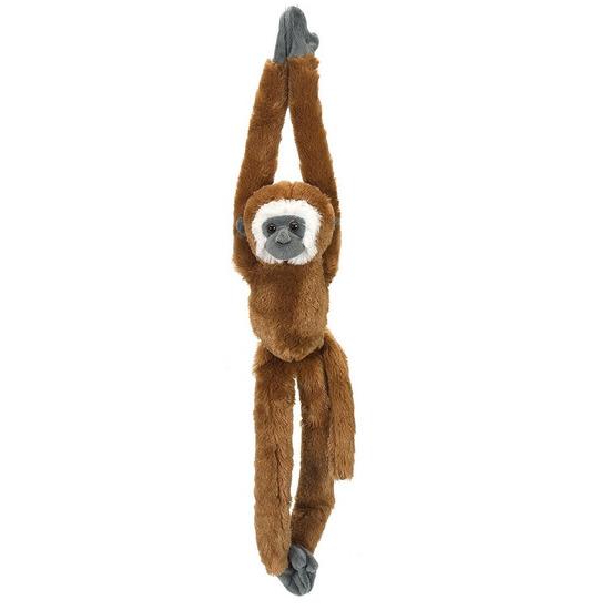 Bruine hangende gibbon aap/apen knuffel 51 cm knuffeldieren