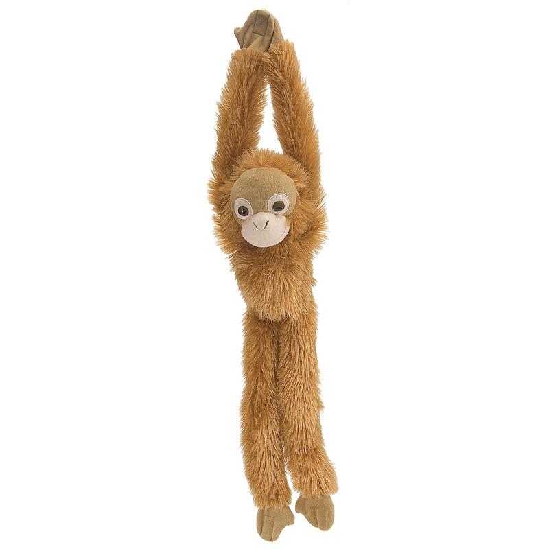 Bruine hangende Orang Oetan aap/apen knuffel 51 cm knuffeldieren