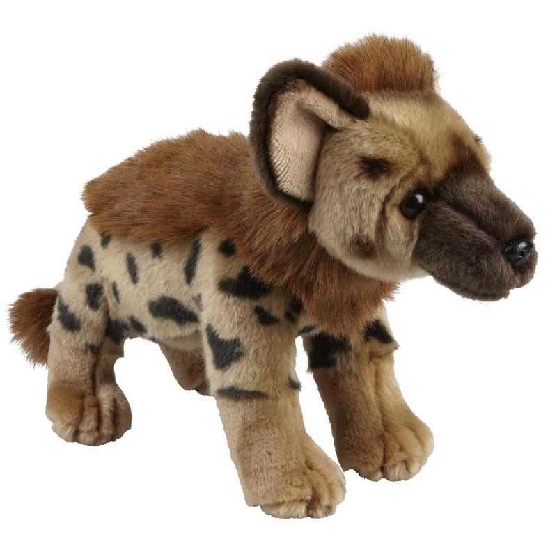 Bruine hyenas knuffels 28 cm knuffeldieren